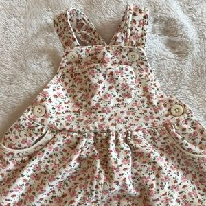 NWOT baby gap cotton overall dress